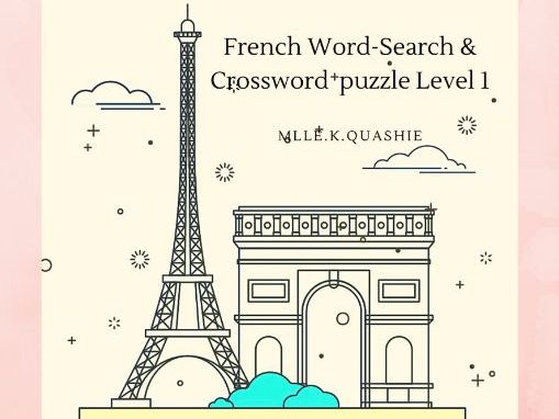 French  Crossword & Word-search, Worksheets