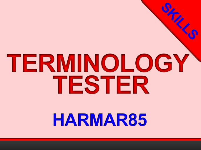 Terminology Tester -self-marking- GCSE - ALL