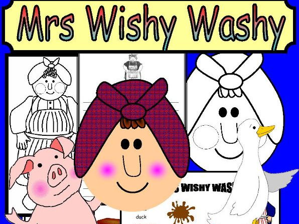 MRS WISHY WASHY Teaching resources Literacy Maths EYFS