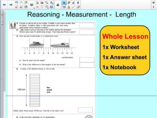 Whole Lesson Reasoning- length - measurement conversion - applying problems - KS2 Year 5 ��� 6