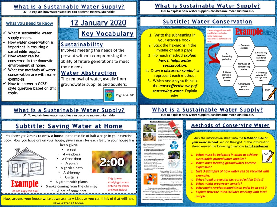Water Management: Sustainable Water Supplies