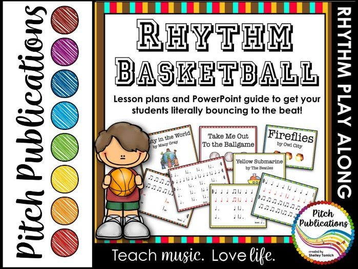 Rhythm Basketball Set Vol 1 - 4th and 5th Grade Lesson Plan Rhythm Practice