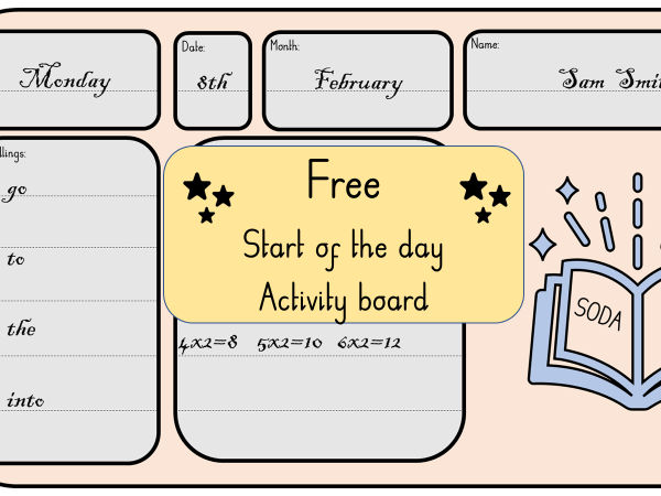 Start of the day activity board