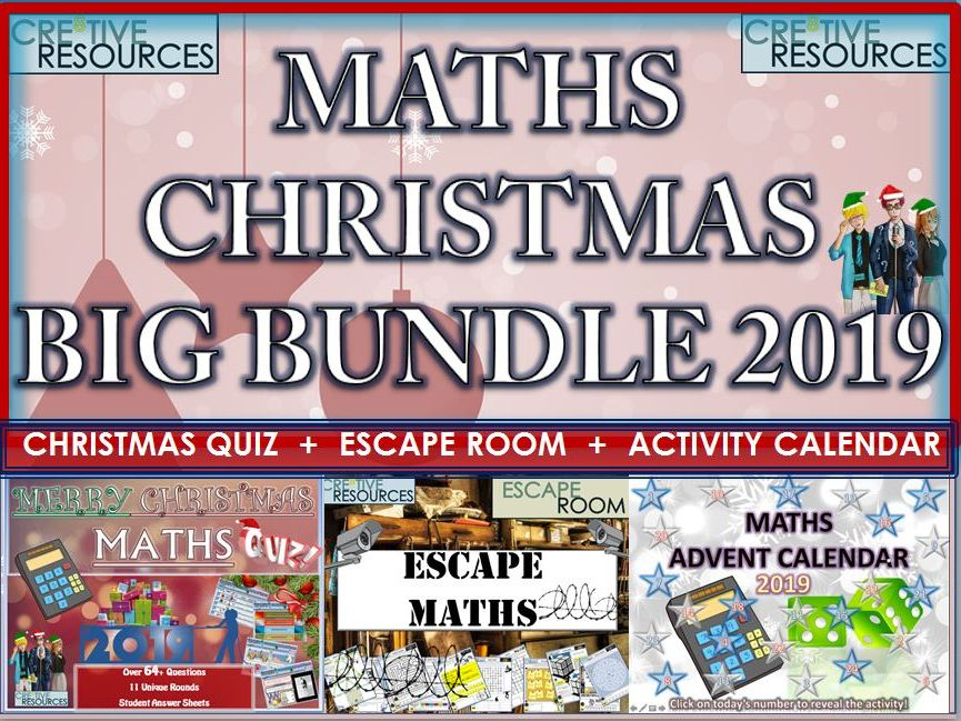 Maths Christmas 2019 BIG Bundle