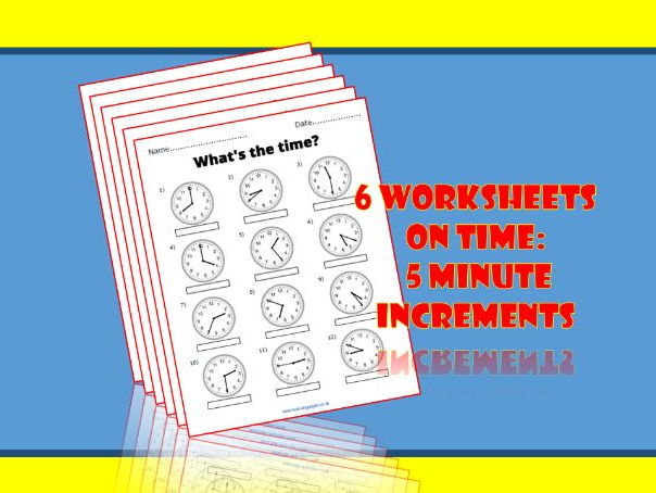 Time worksheets for KS1/2 Maths.