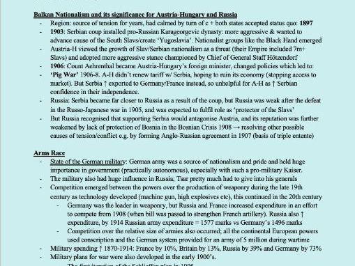 AQA Hist Section 2 1900-11: International Relations