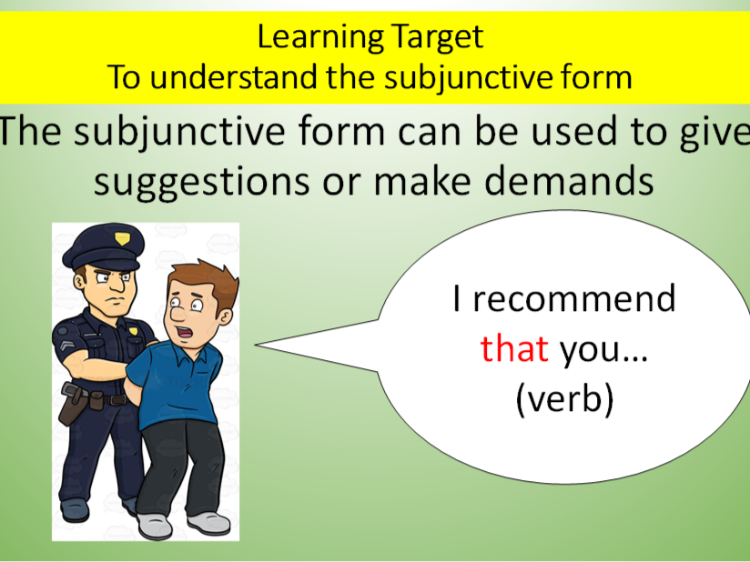 The Subjunctive Form (English)