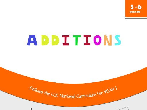 Additions - Maths Workbook for 5 and 6 years old - Compatible with Year 1 objectives
