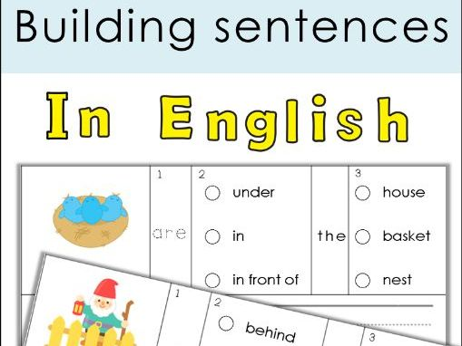Building Sentences Set XX