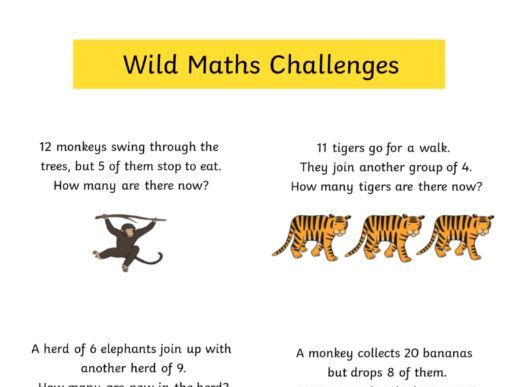 Year 1 (KS1) Jungle Maths Word Problems