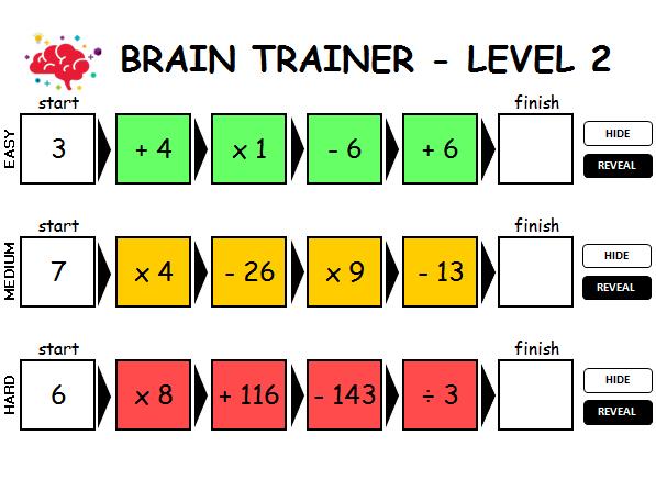 Brain Trainer - Maths Starter Game