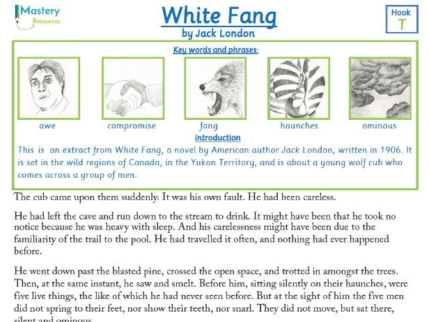 White Fang by Jack London Comprehension KS2