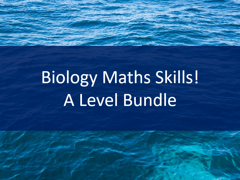 A level Biology Maths Skills - 3 worksheets