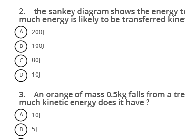 AQA physics GCSE 9 -1 exam practice M/C revision questions for paper 1