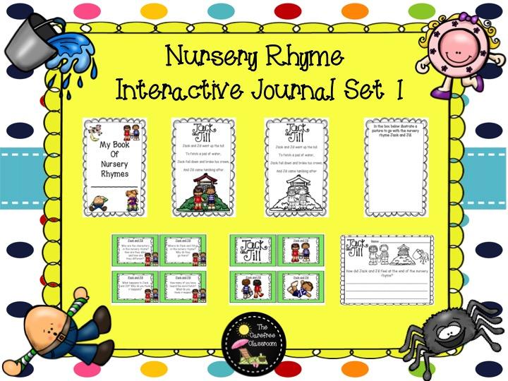 Nursery Rhyme Interactive Journal Set 1