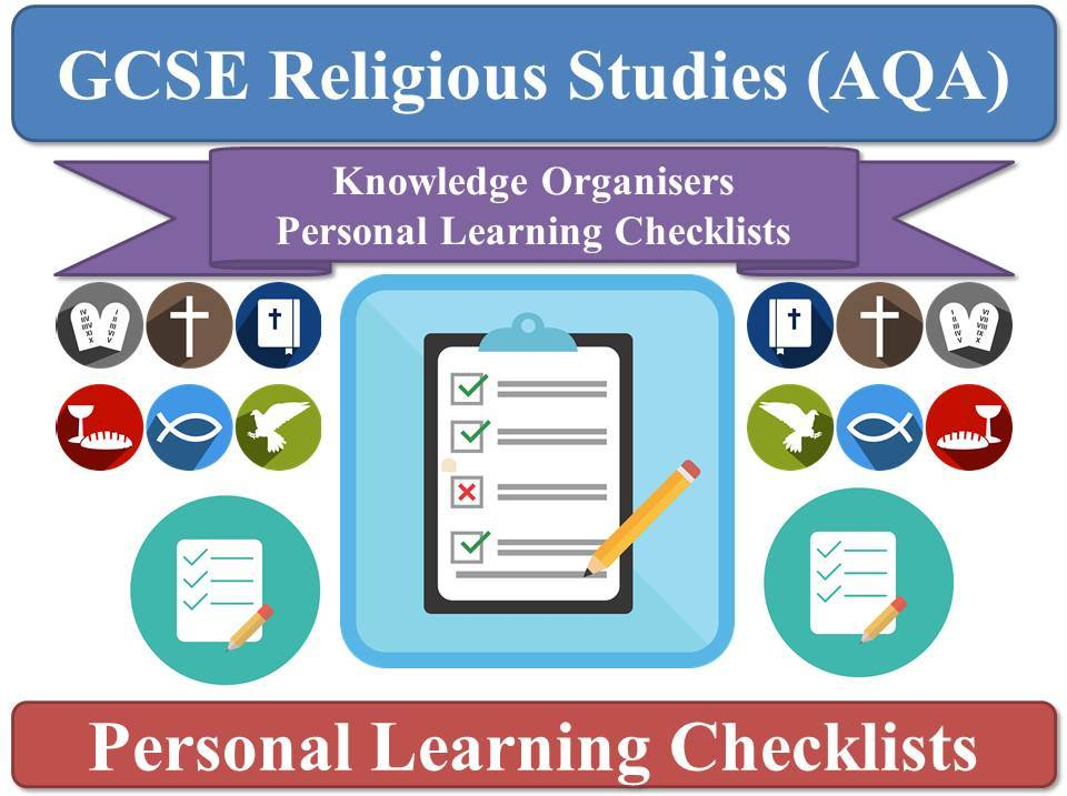 AQA GCSE Religious Studies - Complete Pack of PLCs (Personal Learning Checklists / Organisers)