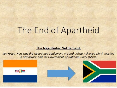 The End of Apartheid: the 1990's