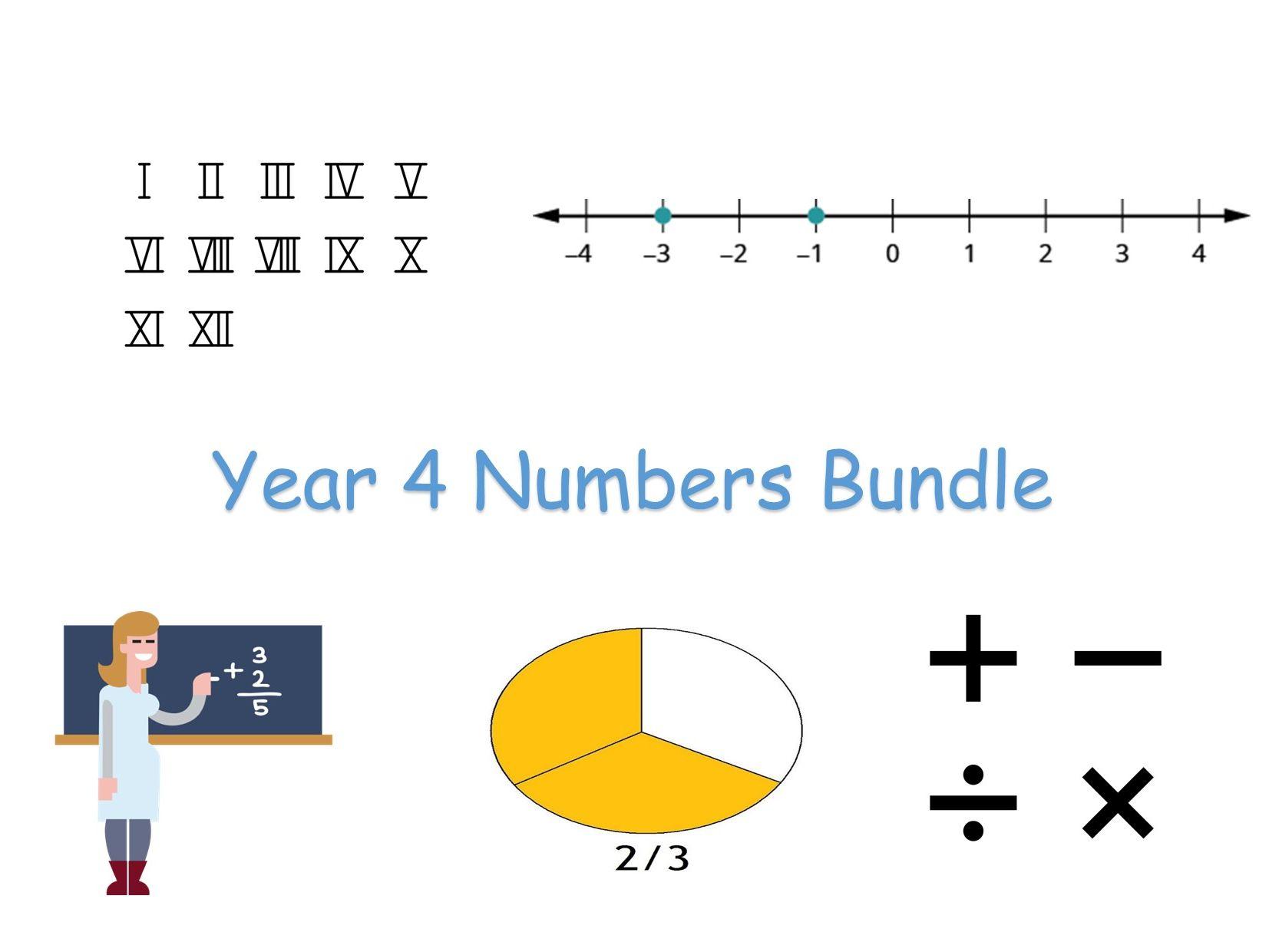 Y4 Maths - Numbers Bundle