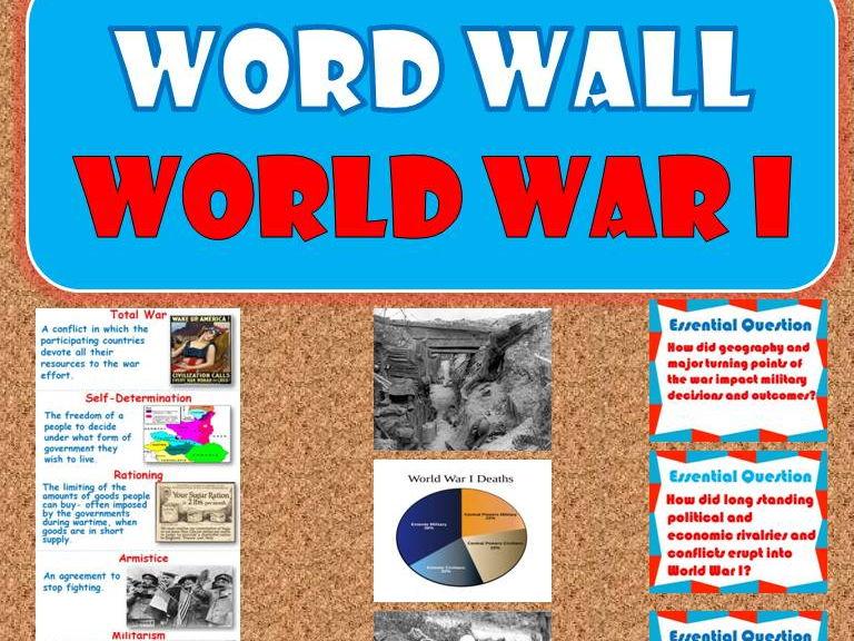 World War I WORD WALL (World History)