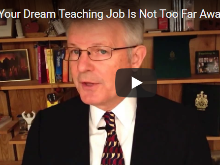 Your Dream Teaching Job Is Not Too Far Away