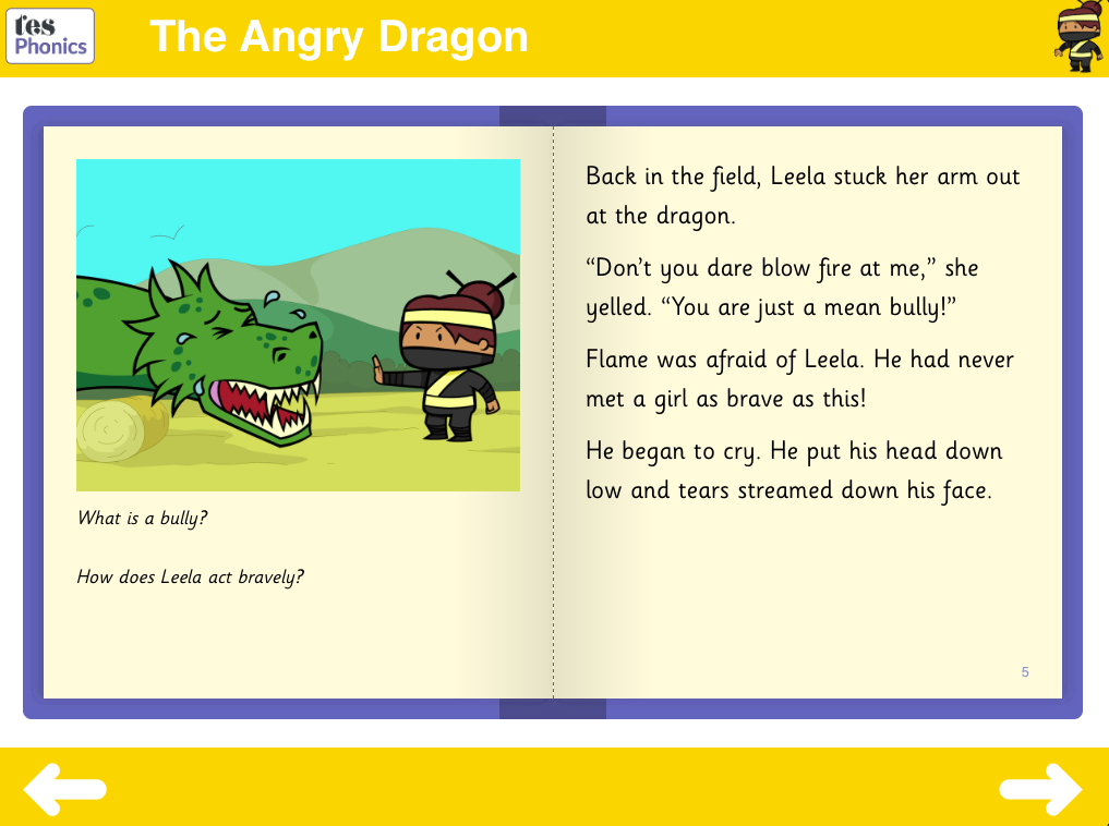 The Angry Dragon Reading Book - Phase 5