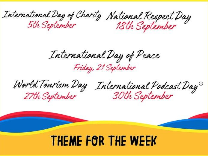 Theme of the Week SEPTEMBER SMSC