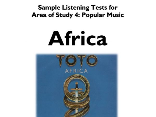 AFRICA - TOTO - Ten Sample Listening Tests