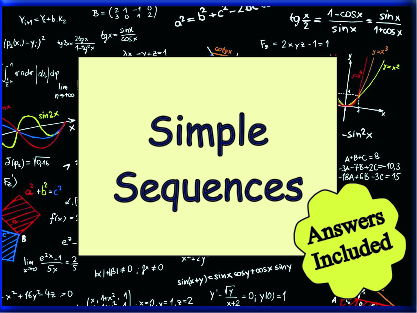 Simple Sequences - 3 Worksheets with Answers