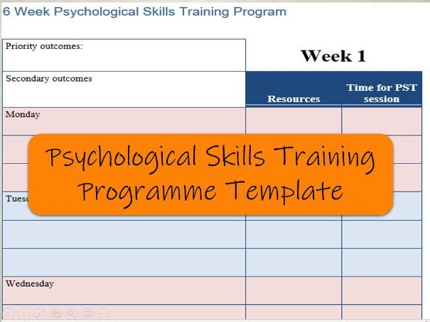 Psychological Skills Training Programme Template