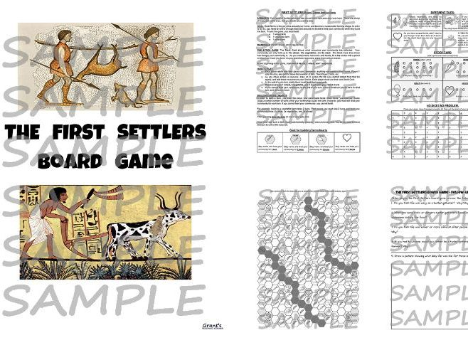 First Settlers - Board Game