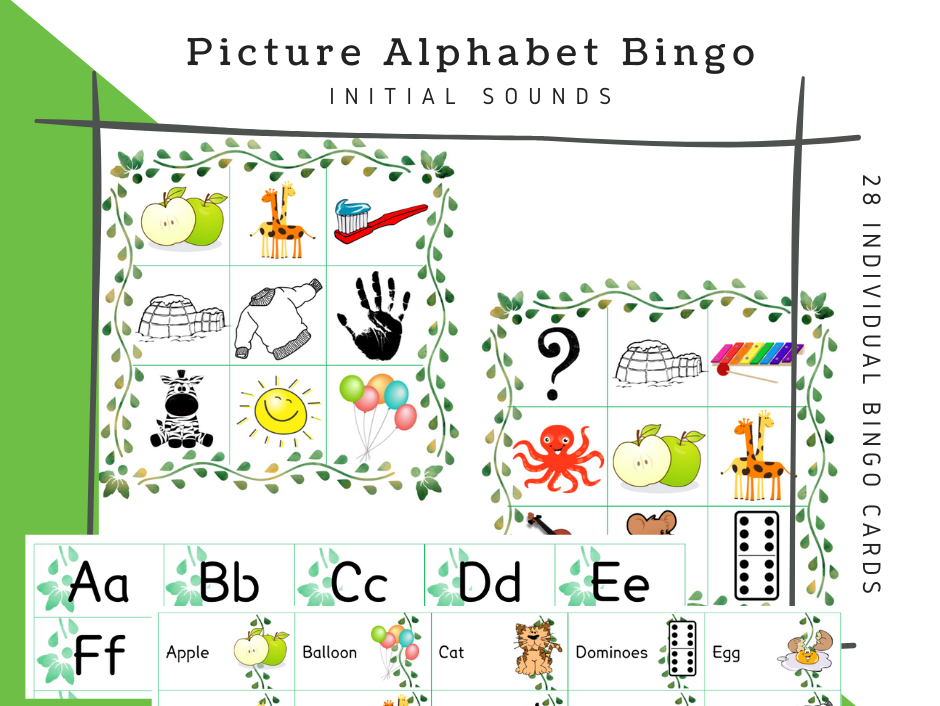 Alphabet Bingo BUNDLE & Bonus Item