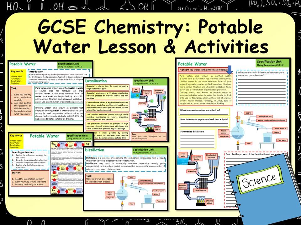 KS4 AQA GCSE Chemistry (Science) Potable Water Lesson