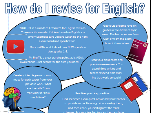 Handout - how do I revise for English? GCSE