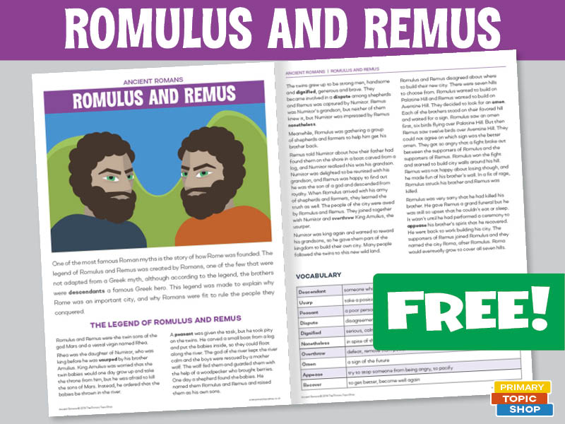 Ancient Romans - Romulus and Remus