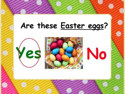 Easter Yes/No Questions for Speech Therapy and Special Ed