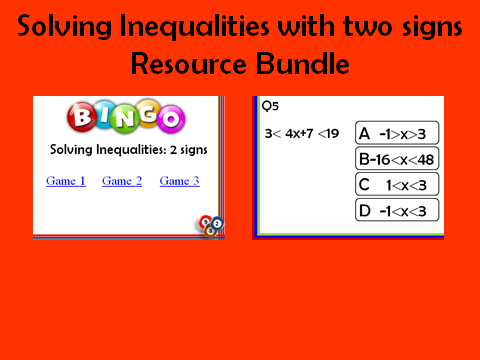 Solving inequalities_2 signs: 2 resources