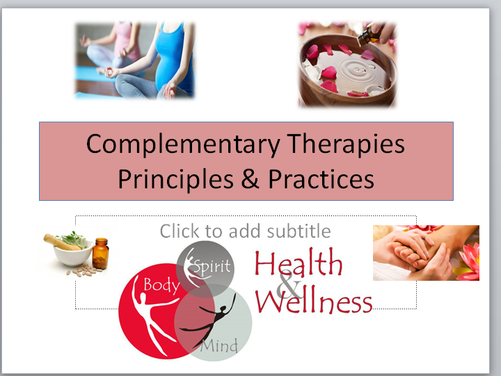 Health & Social Care- Complementary Therapies -Principles and Practices-Lesson&Work Booklet