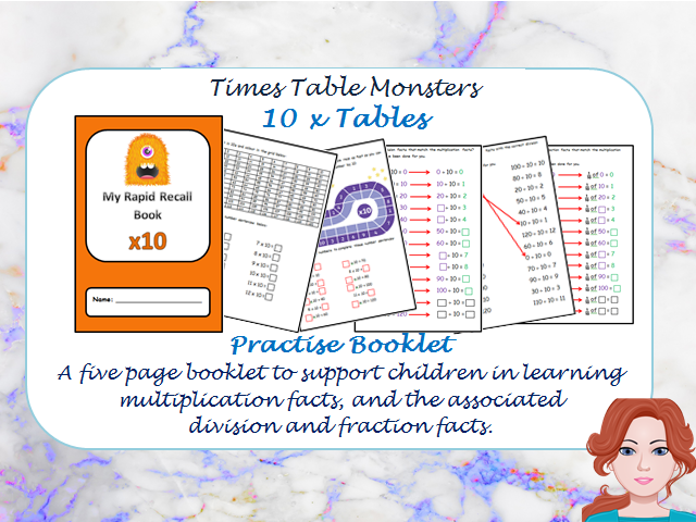 10 x Tables Practise Booklet