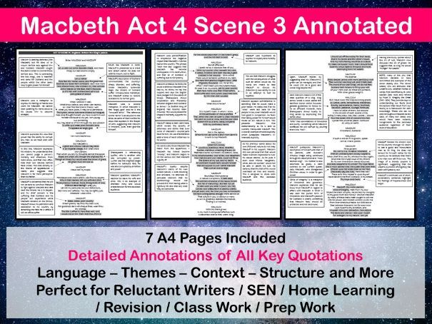 Macbeth Act 4 Scene 3 Annotated