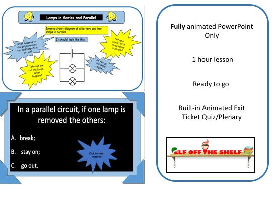 Electricity - Lamps in Series and parallel KS3 - Animated PowerPoint