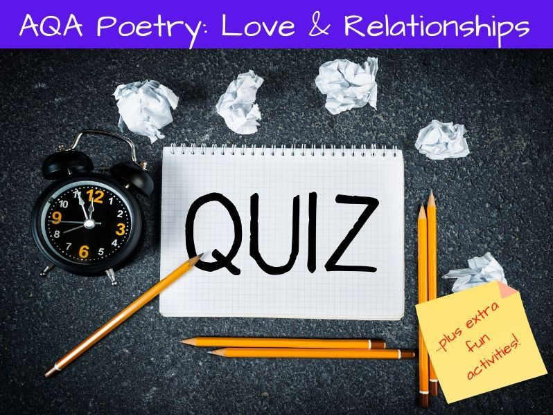 Love and Relationships Poetry Activity Fun Pack