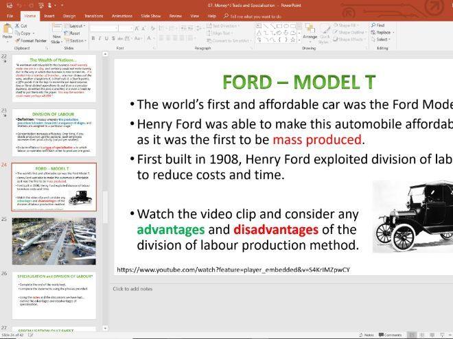 07. Money and Specialisation (Slides, Activities and Notes) - Edexcel A-Level Economics - Theme 1