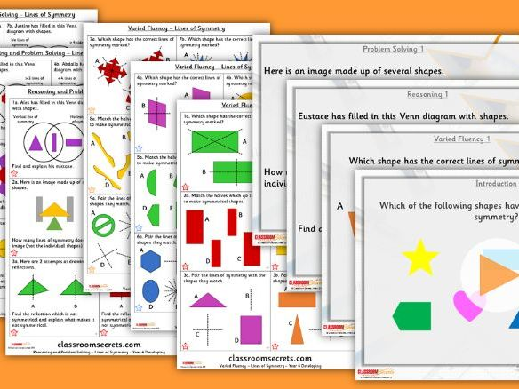 Year 4 Lines of Symmetry Summer Block 5 Step 5 Lesson Pack