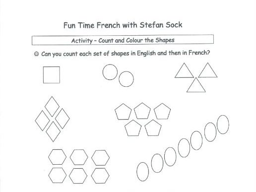 Count and Colour the Shapes - FRENCH
