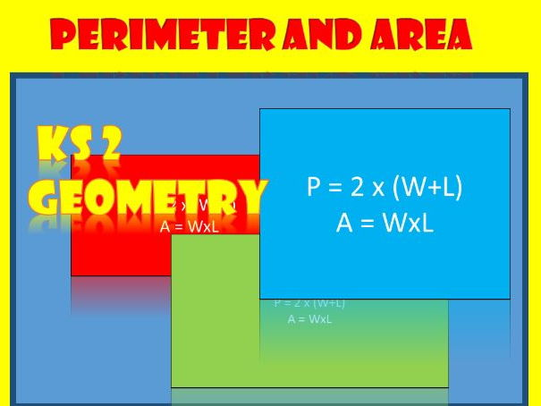 Perimeter and Area of Rectangles.  Worksheets for KS2.