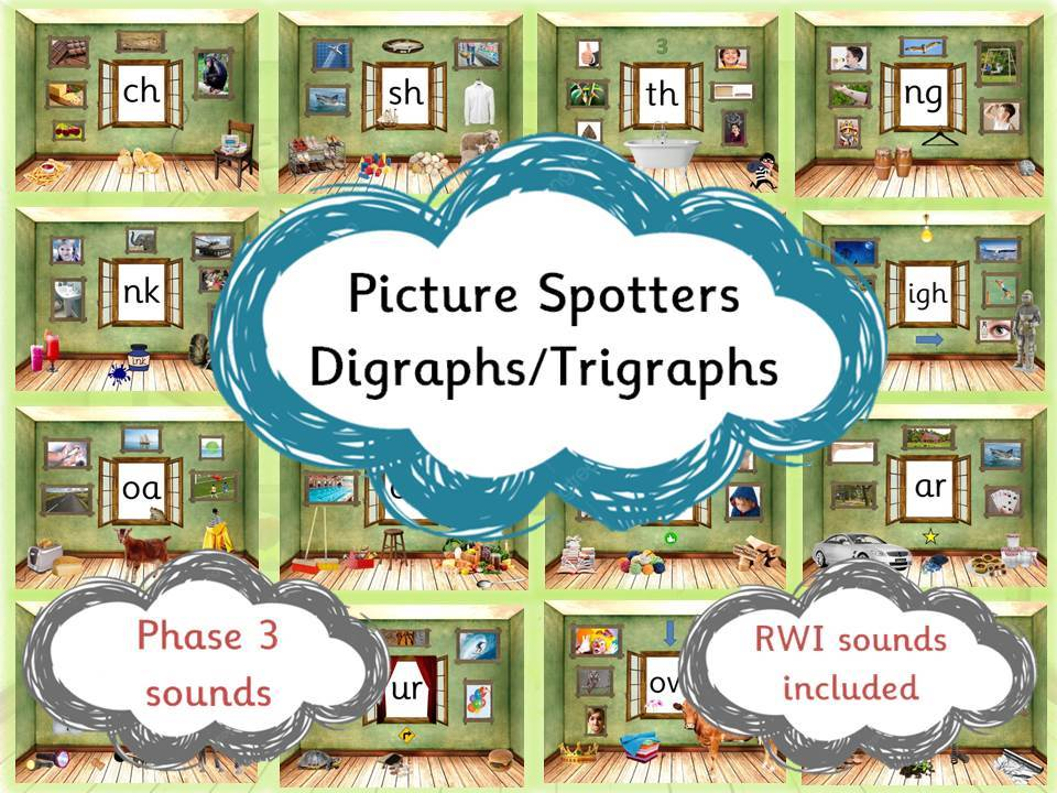 Phonics Picture Spotters - digraphs/trigraphs