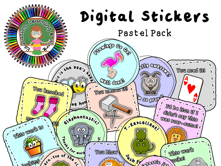 Digital Stickers [2] for Google Classroom, SeeSaw & Distance Learning Platforms