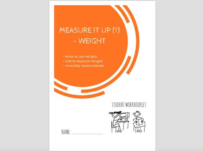 SPECIAL EDUCATION  (NUMERACY) - MEASURE IT (1) - WEIGHT workbooklet