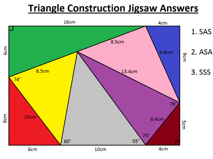 Triangle Construction Jigsaw
