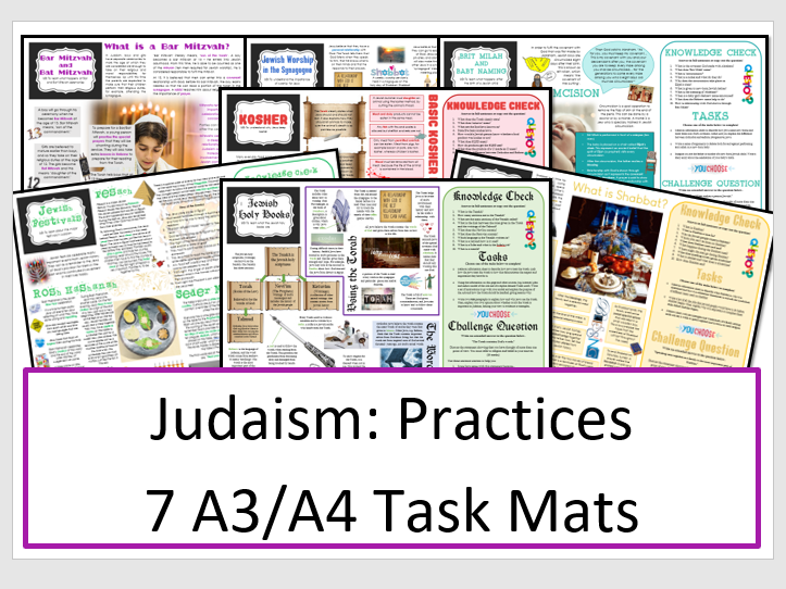Judaism: Practices - Task Mat Bundle